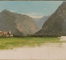Frederic Edwin Church,  View of Wimmis, Valley of the Simmental, Switzerland by Adam Asar