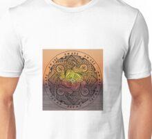 Aware mandala on sunset - OneMandalaADay Unisex T-Shirt
