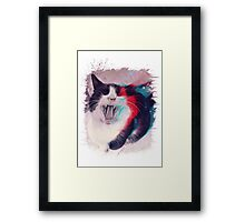 Cat Scream Framed Print