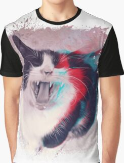 Cat Scream Graphic T-Shirt