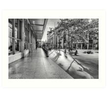 A Good Shadow Is Difficult to Resist - Martin Place - Sydney Art Print