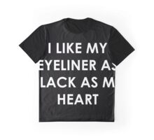 Eyeliner Black Graphic T-Shirt