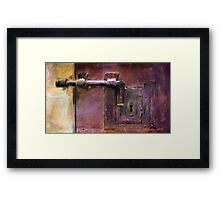 Where's the key? Framed Print