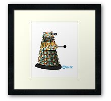 Dalek dot Framed Print