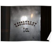 Restaurant first class Poster