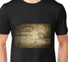 A digital painting of The Danube and A Boat Unisex T-Shirt