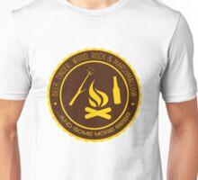 Beer, tinder, wood, rock & marshmallow ...  Unisex T-Shirt