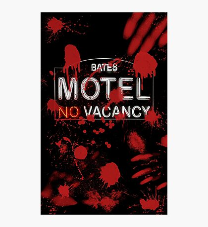 Bloody Bates Motel Photographic Print
