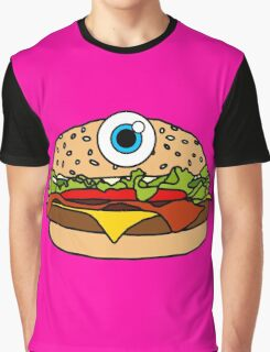 Cyclops Burger Pink Graphic T-Shirt