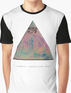 vowels = space and time Graphic T-Shirt