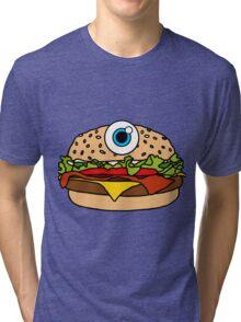 Cyclops Burger Pink Tri-blend T-Shirt