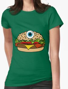 Cyclops Burger Pink Womens Fitted T-Shirt
