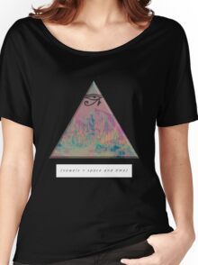 vowels = space and time Women's Relaxed Fit T-Shirt