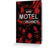 I Survived Bloody Bates Motel Greeting Card