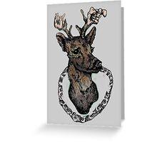 Tumblr Deer Head Greeting Card