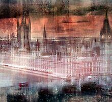 Digital-Art LONDON Westminster by Melanie Viola