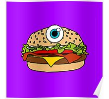 Cyclops Burger Purple Poster