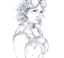 Steampunk Girl by hasanabbas