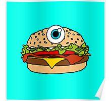 Cyclops Burger Blue Poster