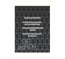 BBC Sherlock-Moriarty funny quote Art Print