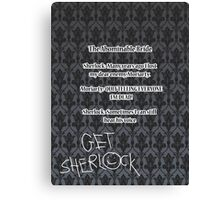 BBC Sherlock-Moriarty funny quote Canvas Print