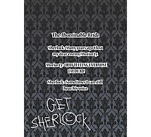 BBC Sherlock-Moriarty funny quote Photographic Print