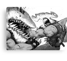 FISH FIGHT! Canvas Print