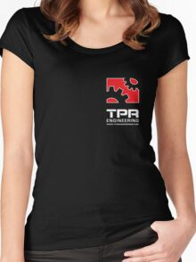 TPR Engineering Stacked Black small Women's Fitted Scoop T-Shirt