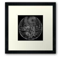 The Grey Jedi Code Framed Print