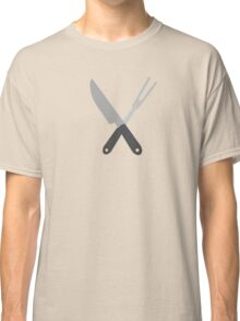 knife and fork Classic T-Shirt