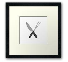 knife and fork Framed Print