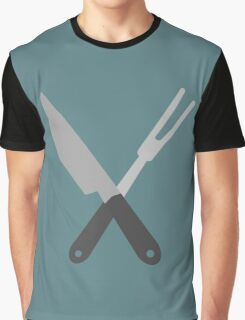 knife and fork Graphic T-Shirt