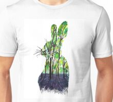 Forest Rabbit Watercolor Painting Unisex T-Shirt