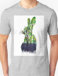 Forest Rabbit Watercolor Painting T-Shirt