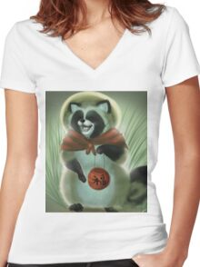tanuki Women's Fitted V-Neck T-Shirt