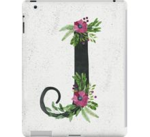 Monogram J with Floral Wreaths iPad Case/Skin