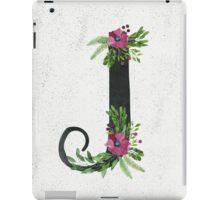 Monogram J with Floral Wreath iPad Case/Skin