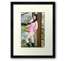 Pink and Rust Framed Print