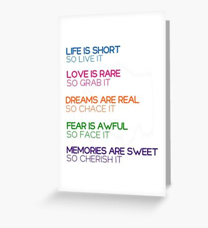 Quotes Greeting Card