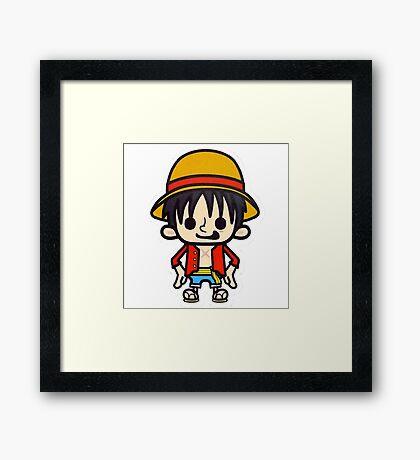 Luffy One Piece Framed Print