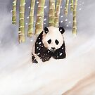 Panda In The Snow by Ray Shuell