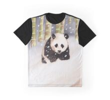 Panda In The Snow Graphic T-Shirt