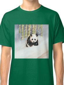 Panda In The Snow Classic T-Shirt