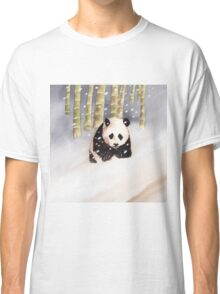 Panda In The Snow Classic T-Shirt