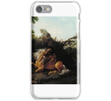 George Stubbs - Horse Devoured by a Lion, Tate Britain iPhone Case/Skin