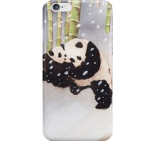 Pandas In The Snow Too iPhone Case/Skin