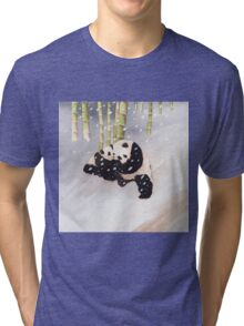 Pandas In The Snow Too Tri-blend T-Shirt
