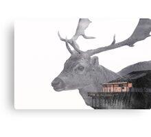 Deer Multiple Exposure Canvas Print