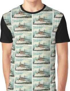 Armoured steel cruiser New York, United States Navy - 1893 - Currier & Ives Graphic T-Shirt
