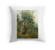 Georges Jules Victor Clairin (French, ) An Afternoon Stroll, Throw Pillow